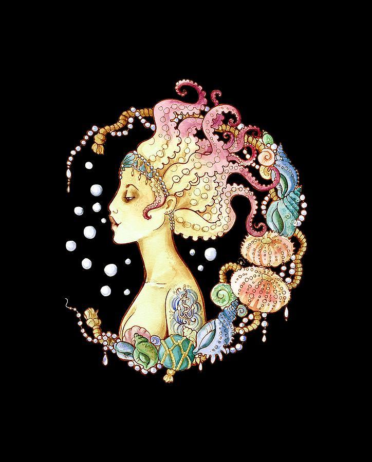 Octopus Mermaid Tattoo Digital Art By Rabvy Alfonso