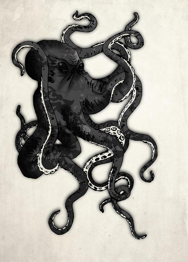 Sea Digital Art - Octopus by Nicklas Gustafsson
