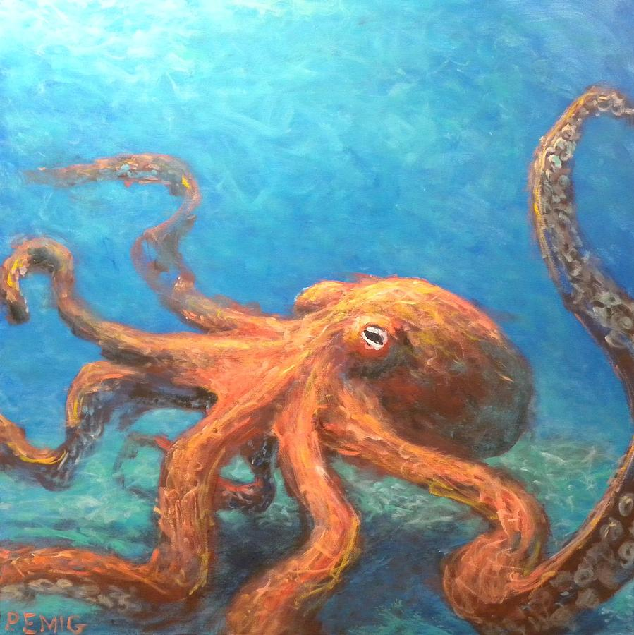 Octopus Painting - Octopus by Paul Emig