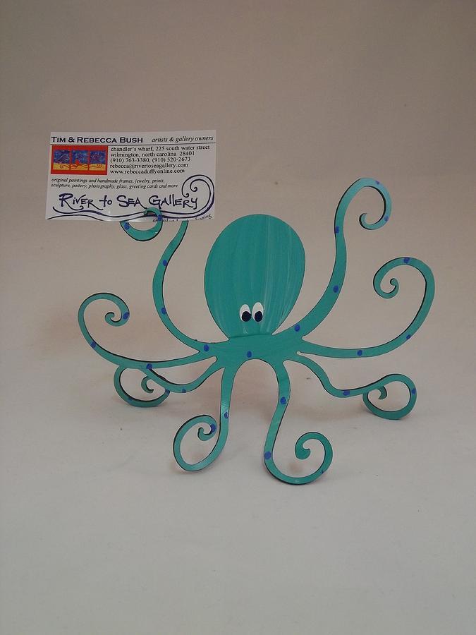 Octopus Steel Sculpture Sculpture - Octopus by Rebecca Bush
