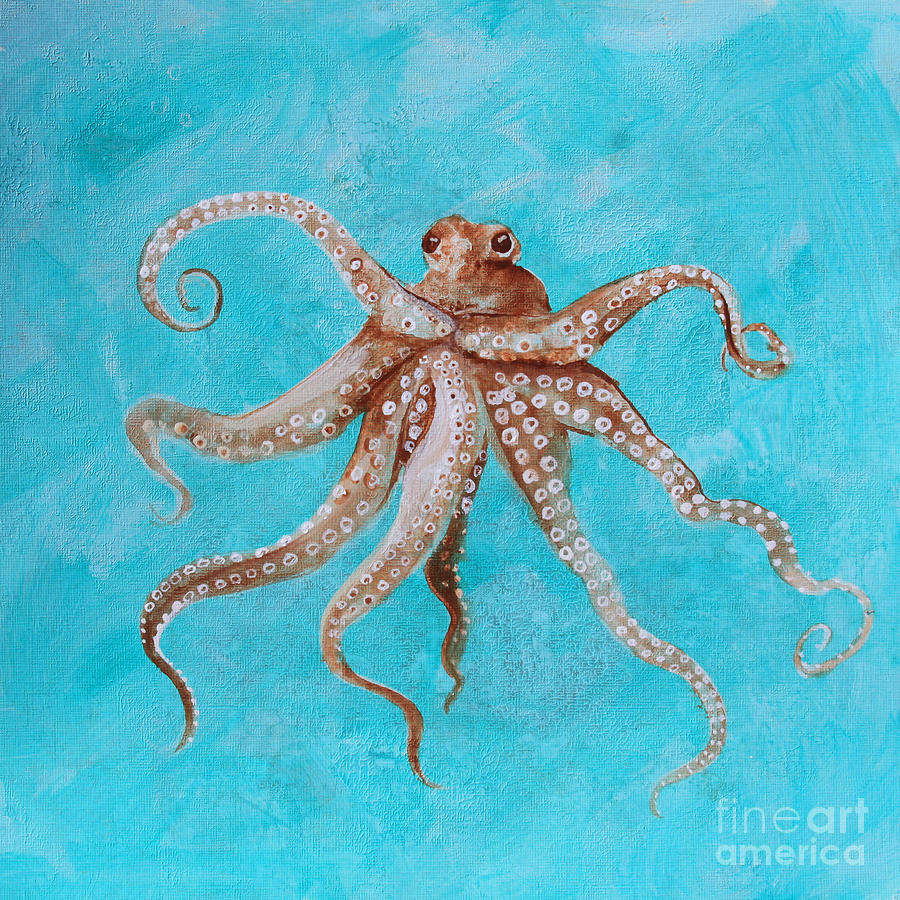 Octopus Painting - Octopus by Robin Pedrero