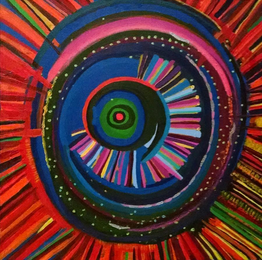 Eye Painting - Ocular Energy Path by Daina White