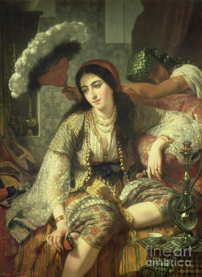 Odalisque Painting - Odalisque by Jean Baptiste Ange Tissier