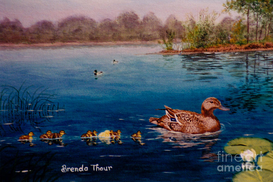 Duck Painting - Odd Duck Out by Brenda Thour