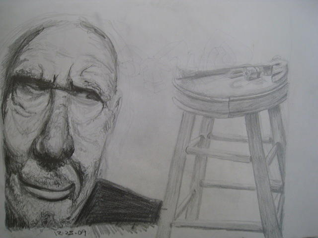 Old Drawing - Odd Man by Will Stevenson
