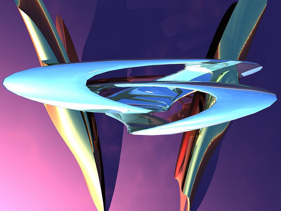 Sculpture Digital Art - Odd Sculpture by Michael Burleigh
