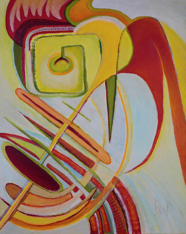Geometric Abstracts Painting - Oddesy by David Douthat