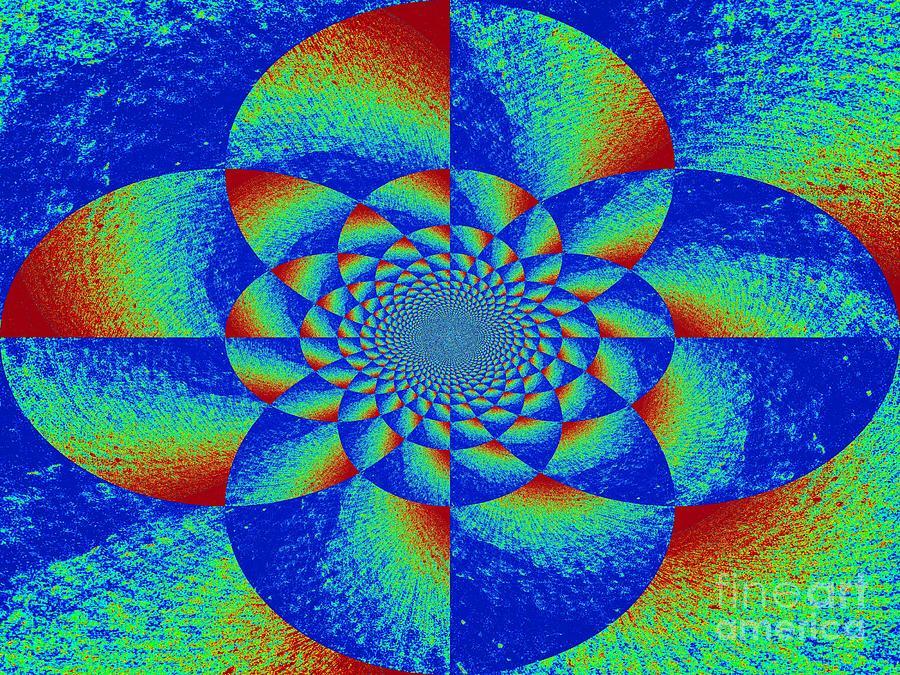 Mandala Photograph - Oddly Mandala by Chuck Taylor