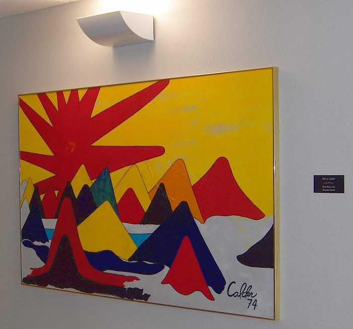 Painting Painting - Ode To Calder by Richard W Beau Lieu