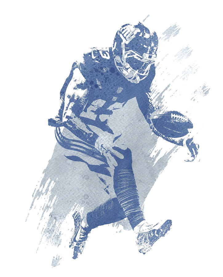 Odell Beckham Jr Mixed Media - Odell Beckham Jr New York Giants Water Color Art 3 by Joe Hamilton