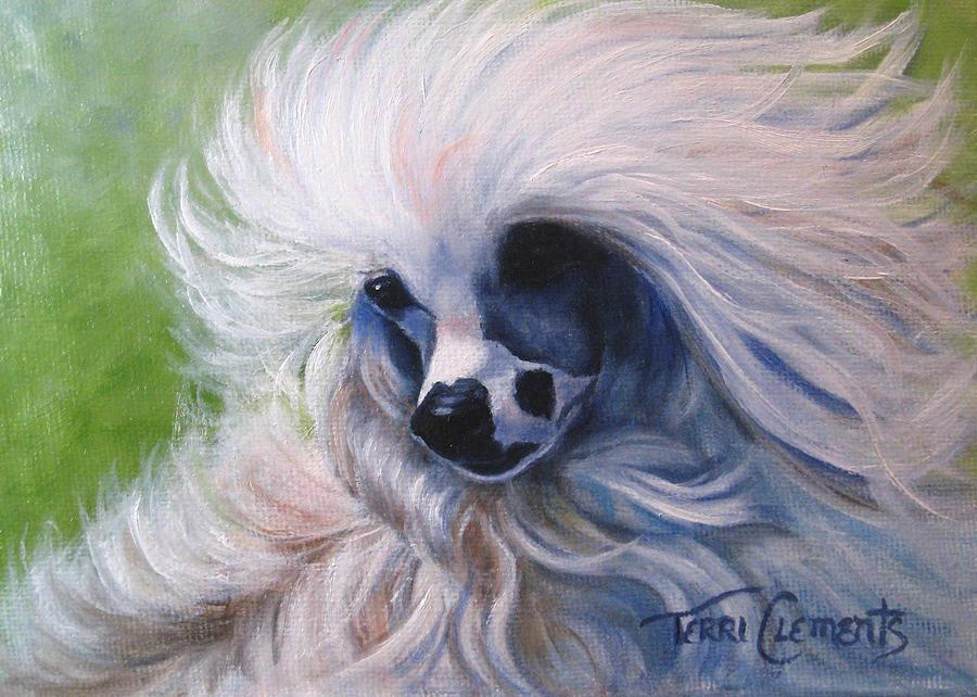 Dog Painting - Odin In The Breeze by Terri Clements