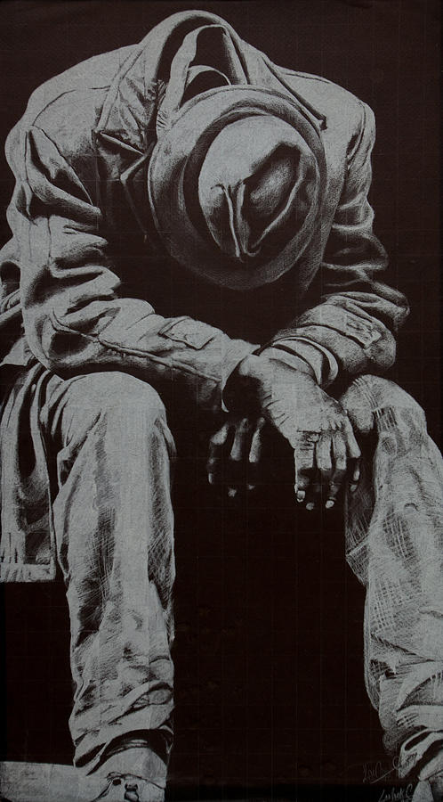 Figure Drawing - Odis by Lamark Crosby