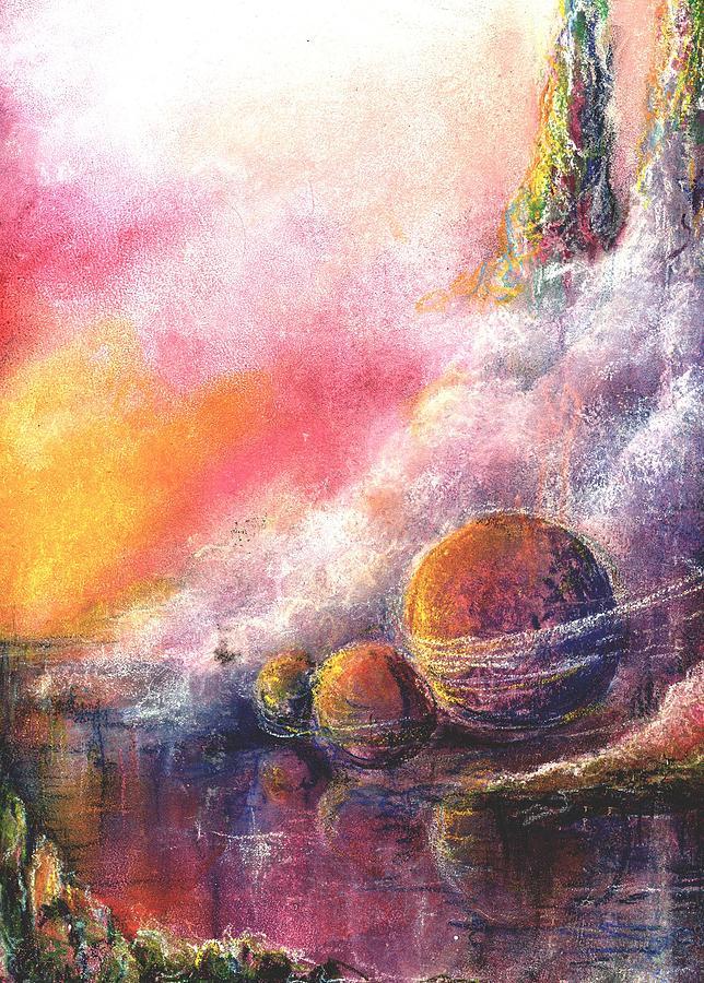 Outer Space Pastel - Odyessy by Melody Horton Karandjeff