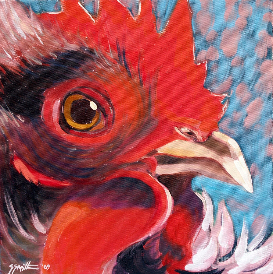 Animals Painting - Oeil De Poulet by Sandra Smith-Dugan