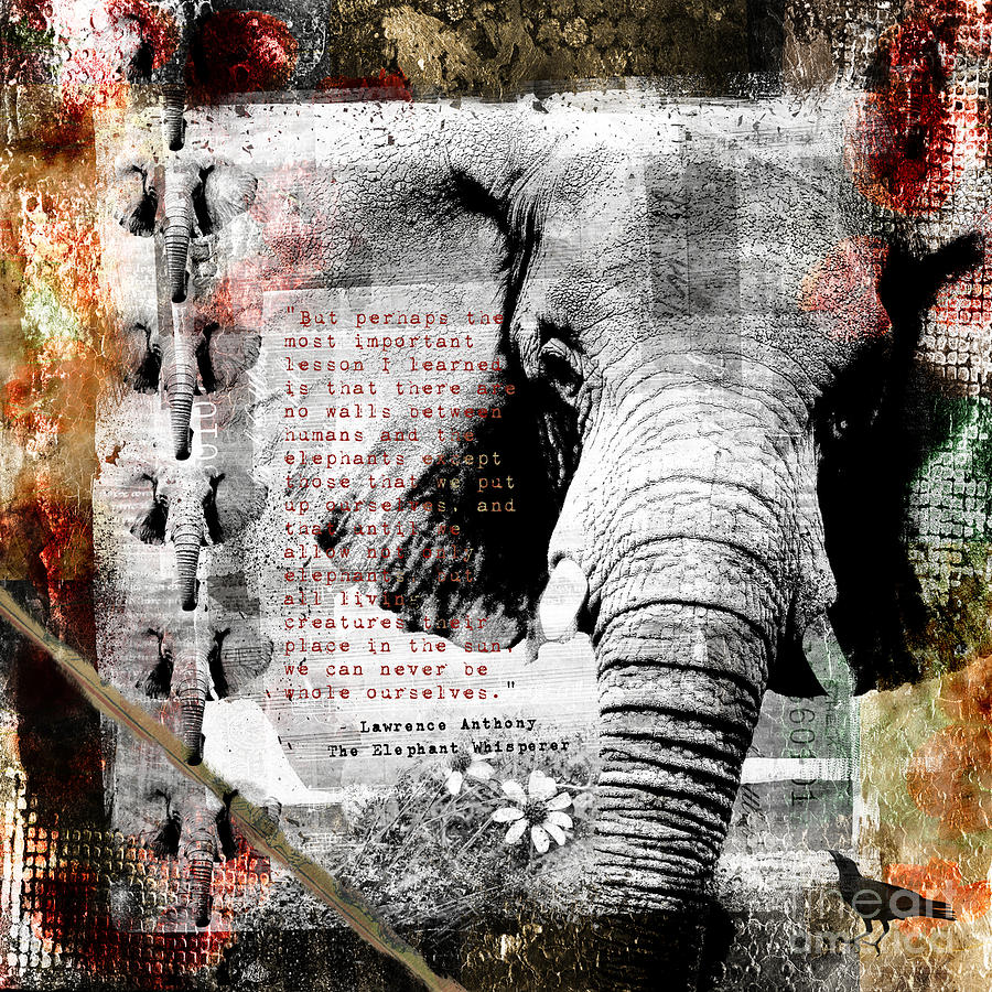 Picasso Quote Digital Art - Of Elephants And Men by Nola Lee Kelsey