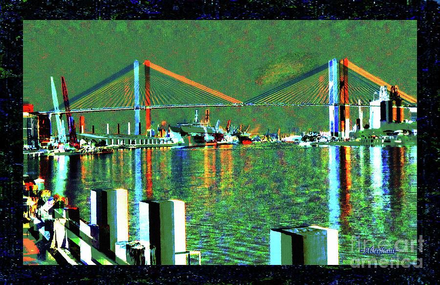 Beautiful Bridges Mixed Media - Of Time And The Savannah River Bridge by Aberjhani