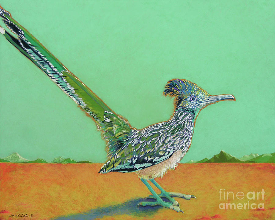 Roadrunner Pastel - Of Two Minds by Tracy L Teeter