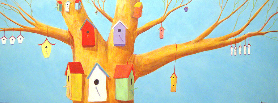 Birdhouses Painting - Off Season 3 by Scott Gordon