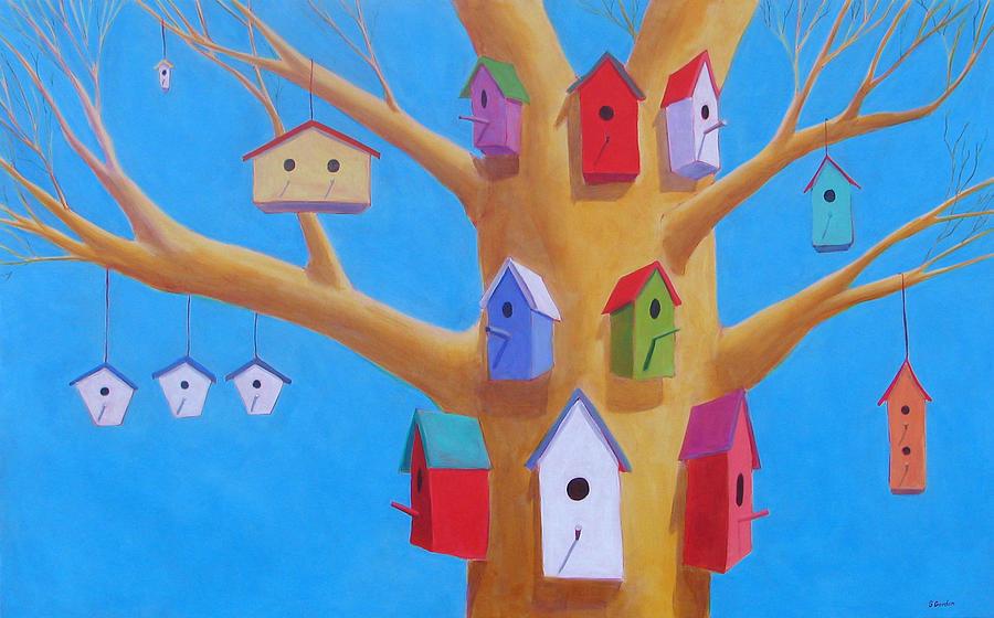 Bird House Painting - Off Season 4 by Scott Gordon