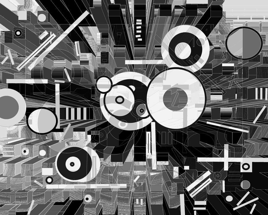 Spatial Digital Art - Off The Grid 50 by Lynda Lehmann