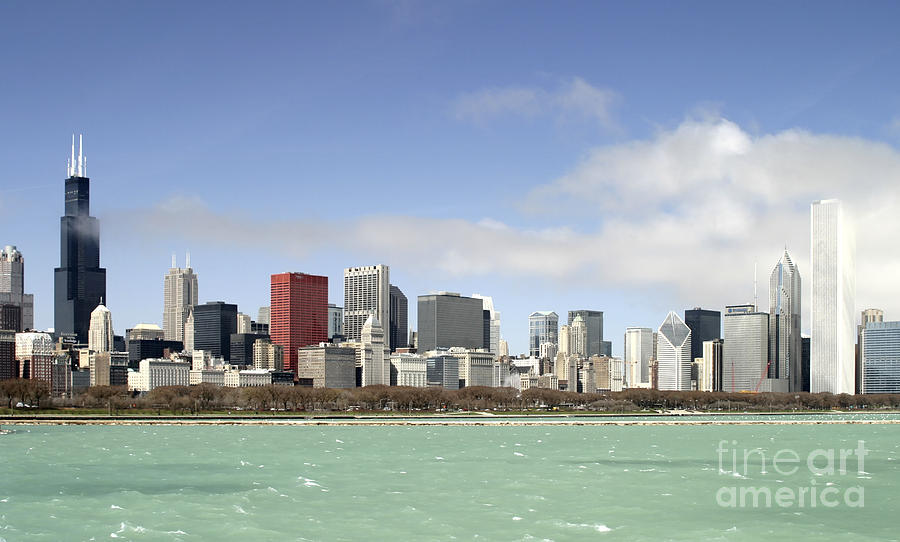 Canon Photograph - Off the Shore of Chicago by Ricky L Jones