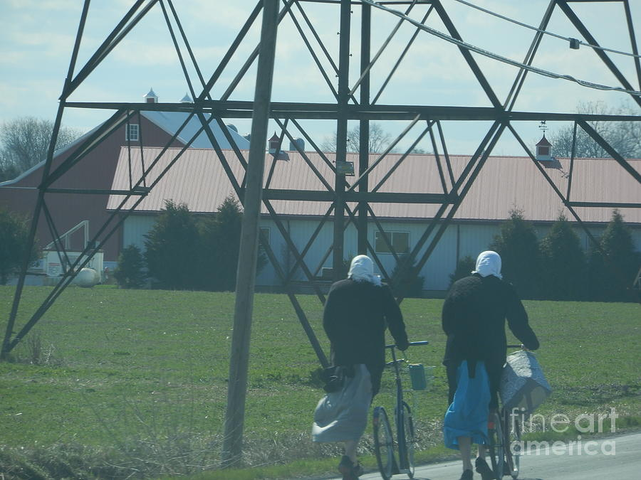 Amish Photograph - Off To Shop by Christine Clark