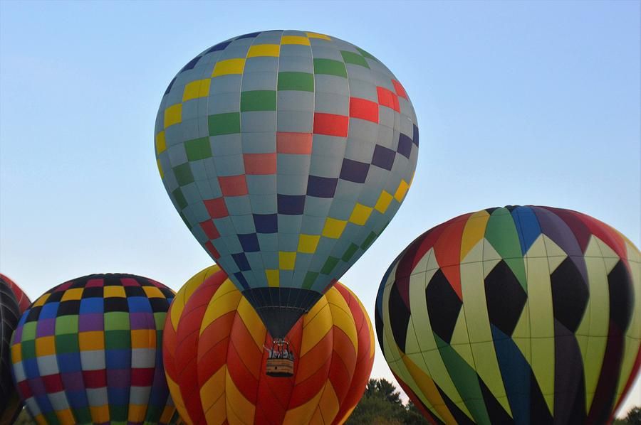 Balloons Photograph - Off We Go by Charles HALL