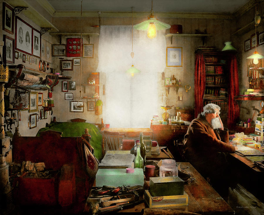 Self Photograph - Office - Ole Tobias Olsen 1900 by Mike Savad