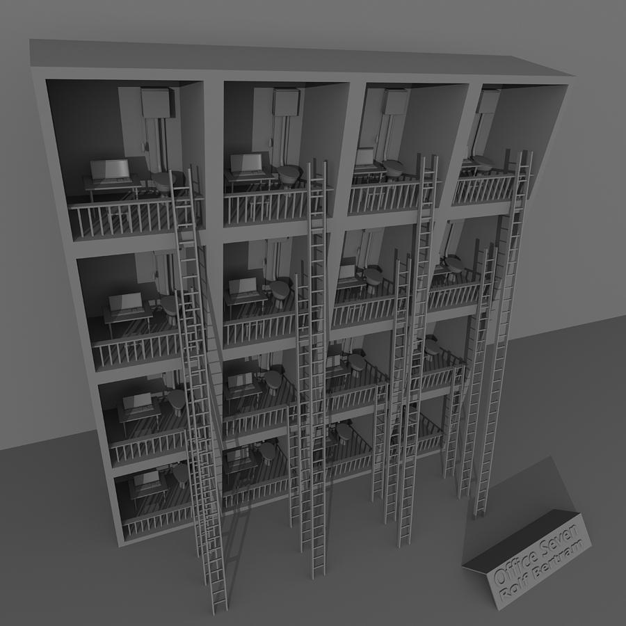 Insane Digital Art - Office Seven by Rolf Bertram