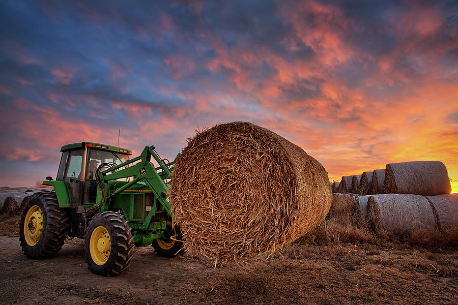 Tractor Photograph - Office Space by Thomas Zimmerman