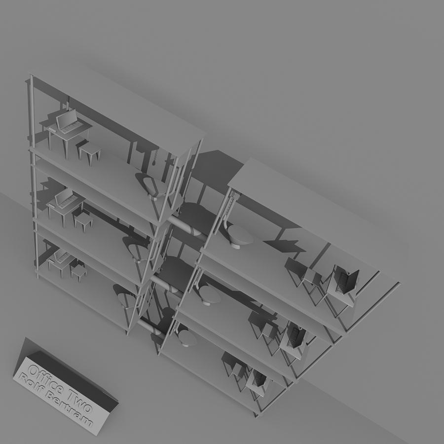 Absurd Digital Art - Office Two by Rolf Bertram