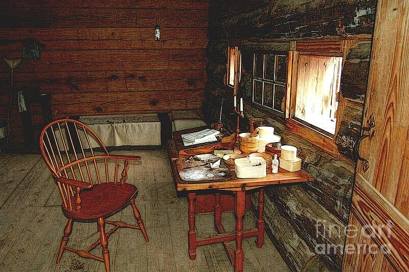 Diane Berry Digital Art - Officers Quarters Fort Stanwix by Diane E Berry
