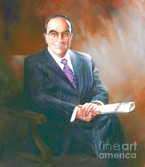 Official Painting - Official Professional Oil Portrait by Mark Sanislo