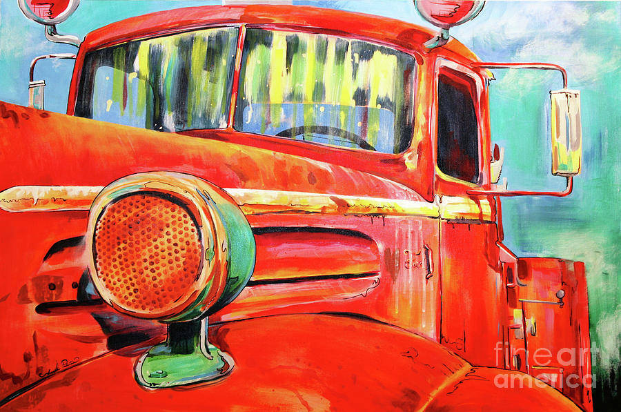 Old Truck Painting - Officially Retired  by Joseph Palotas
