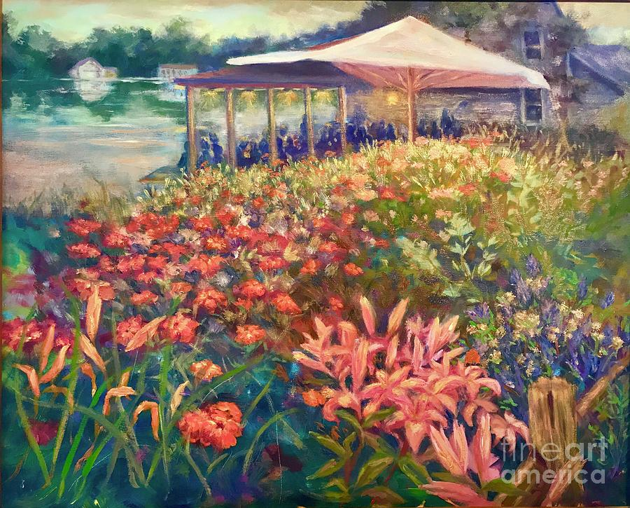 Ogunquit Gardens at Waterside Restaurant by Gail Allen