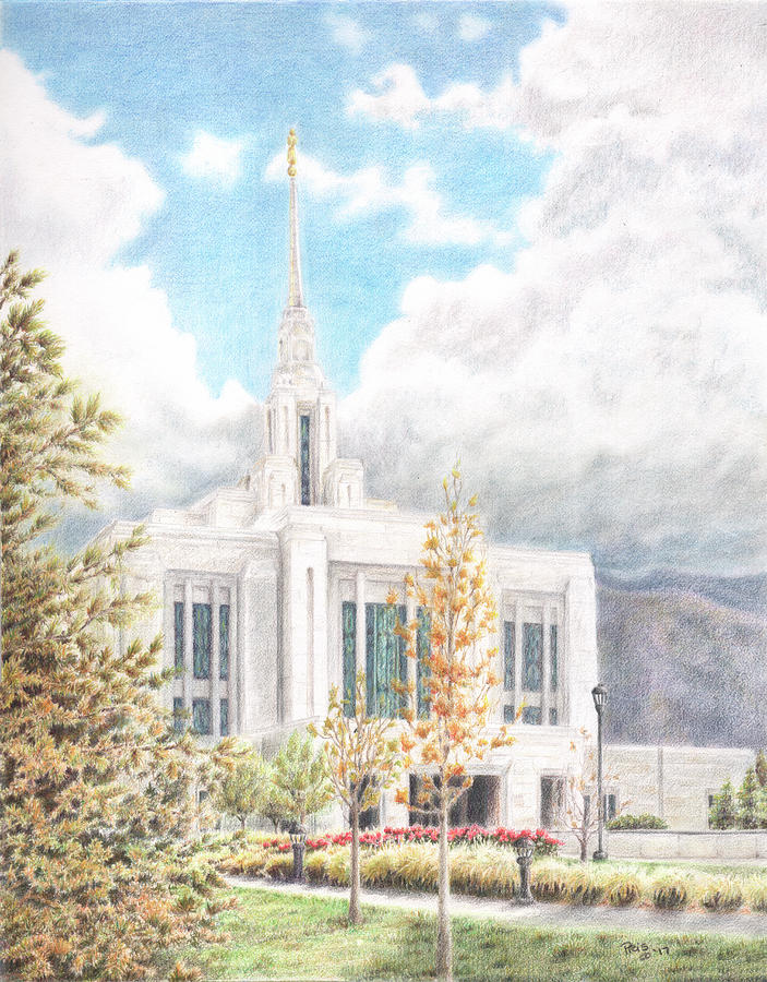 Ogden UT LDS Temple by Pris Hardy