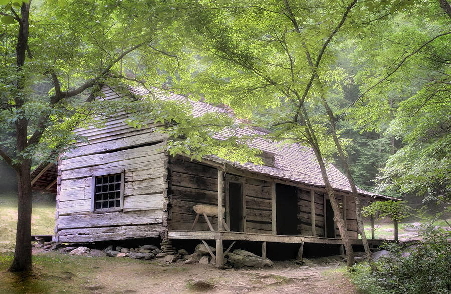 Ogle homestead smoky mountain rustic cabin photograph by for Rustic mountain cabin plans