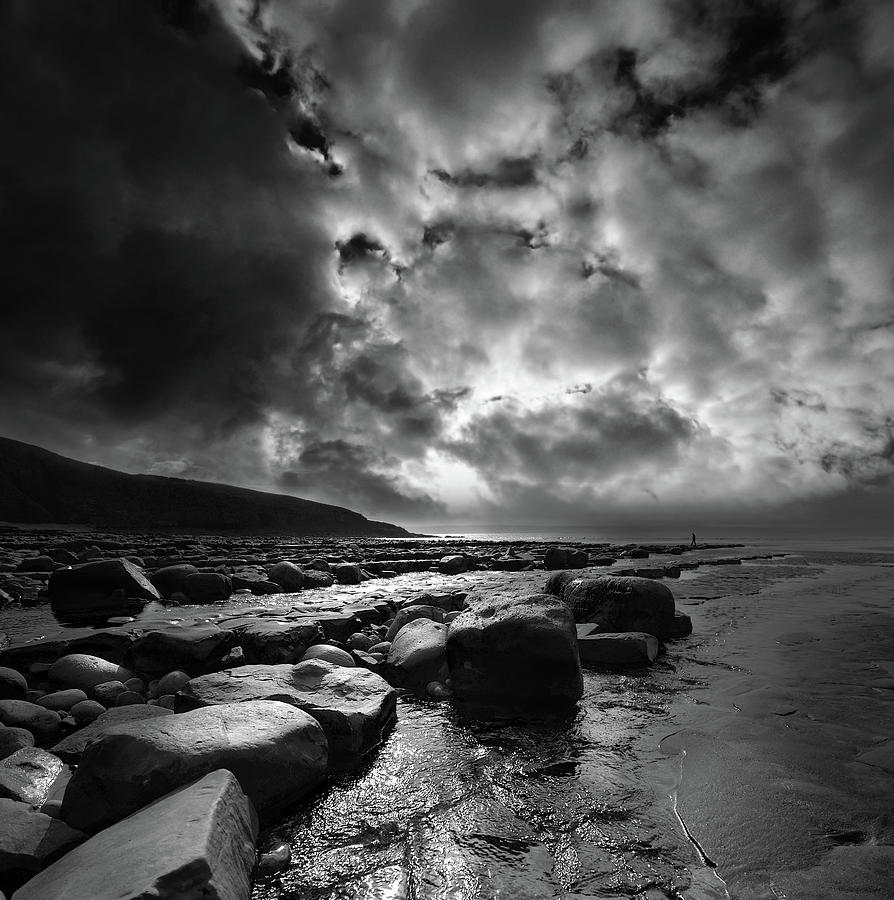 Sea Photograph - Ogmore By Sea 4 by Phil Fitzsimmons