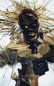 Ogu Vodou Spirit Of Iron Mixed Media by Miss Kitty