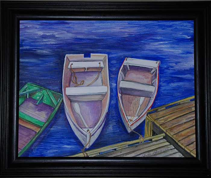 Boats Painting - Ogunquit Boats by Anita Banks Ambrister