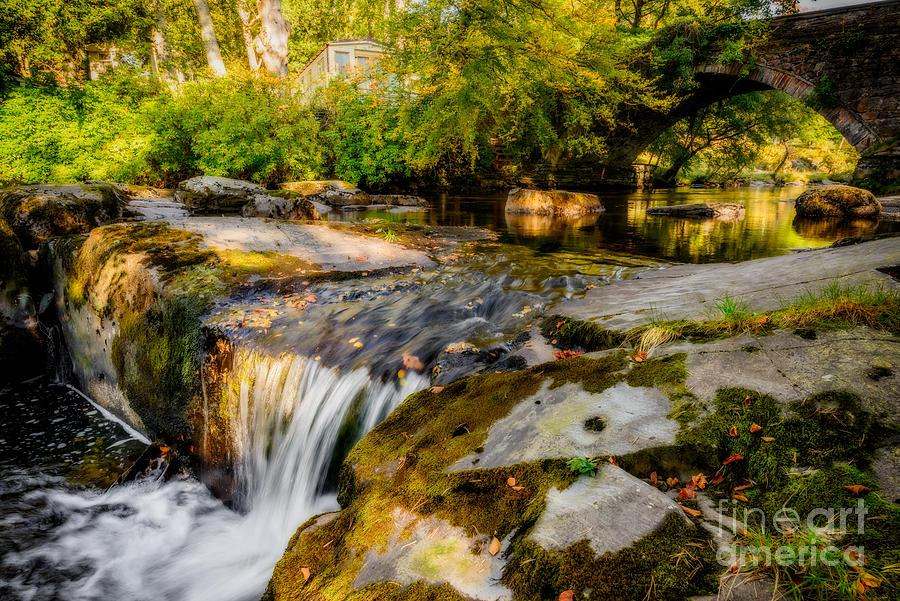 Autumn Photograph - Ogwen Bank Waterfall  by Adrian Evans