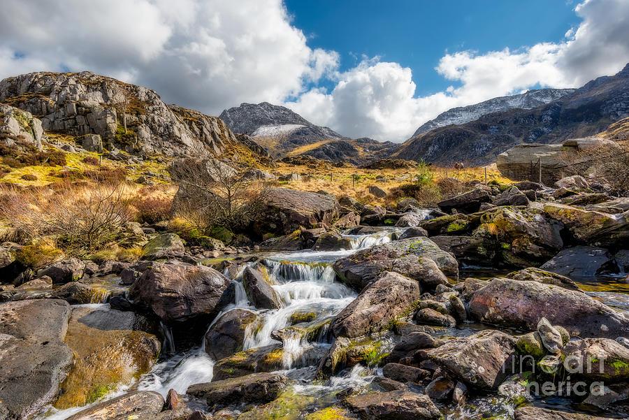 Landscape Photograph - Ogwen Valley Rapids by Adrian Evans