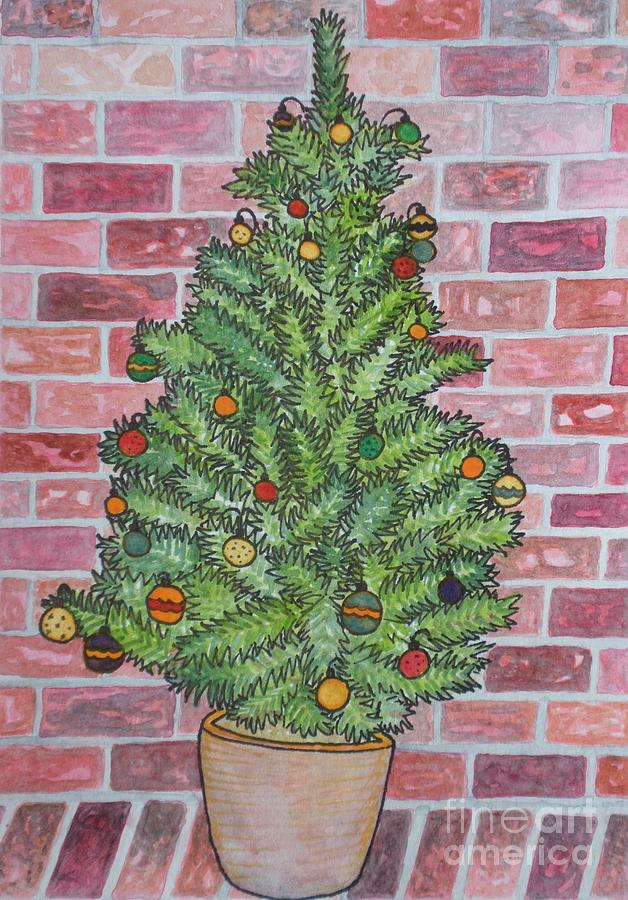 Christmas Painting - Oh Christmas Tree by Meg Goff