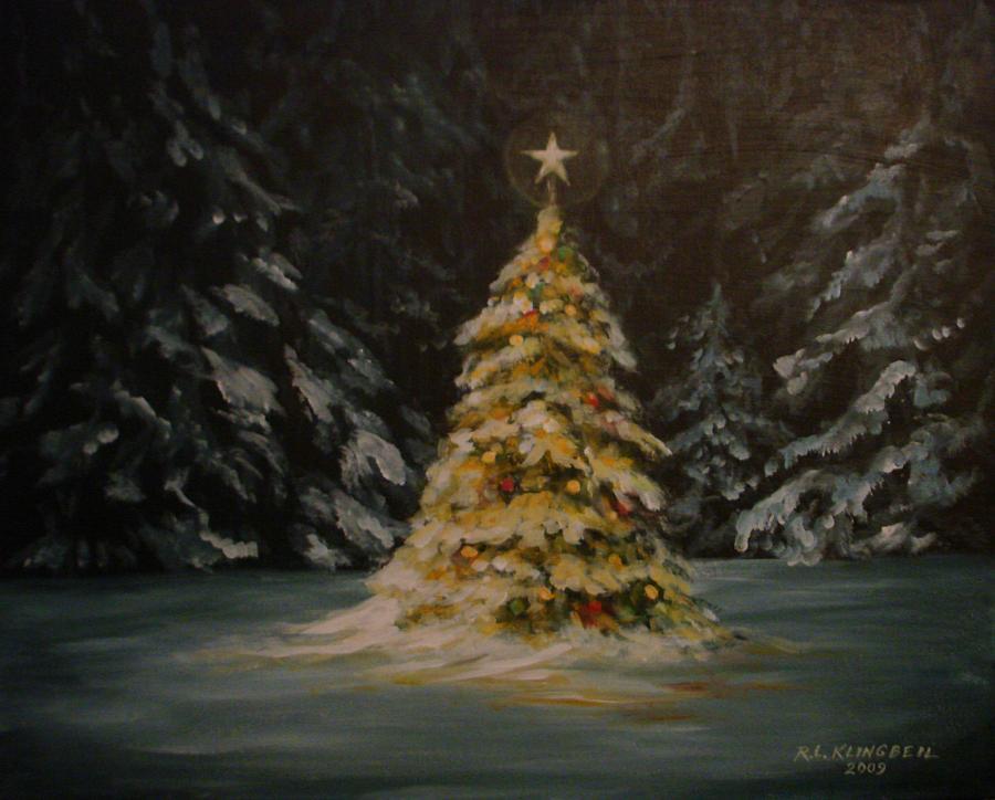 Christmas Painting - Oh Christmas Tree by Richard Klingbeil
