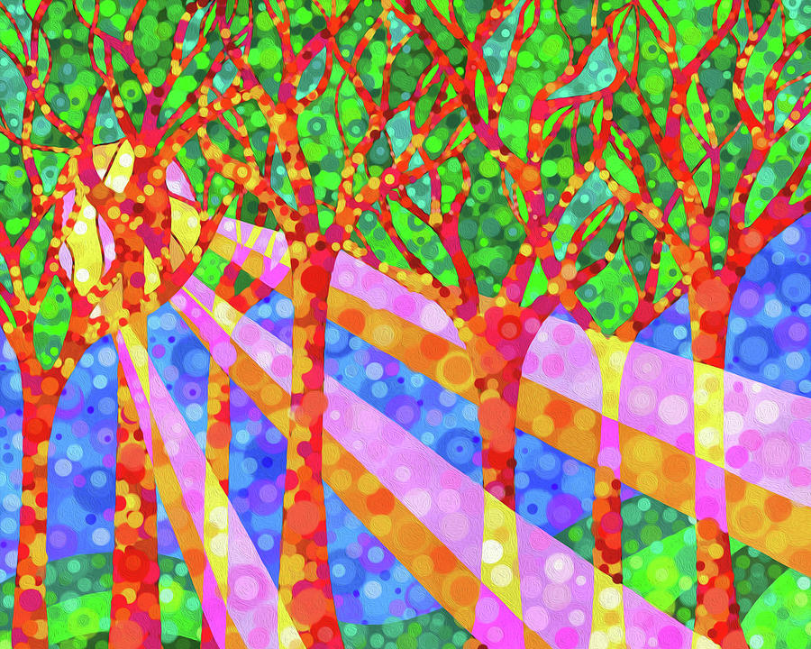 Forest Digital Art - Oh Happy Day by Jennifer Allison