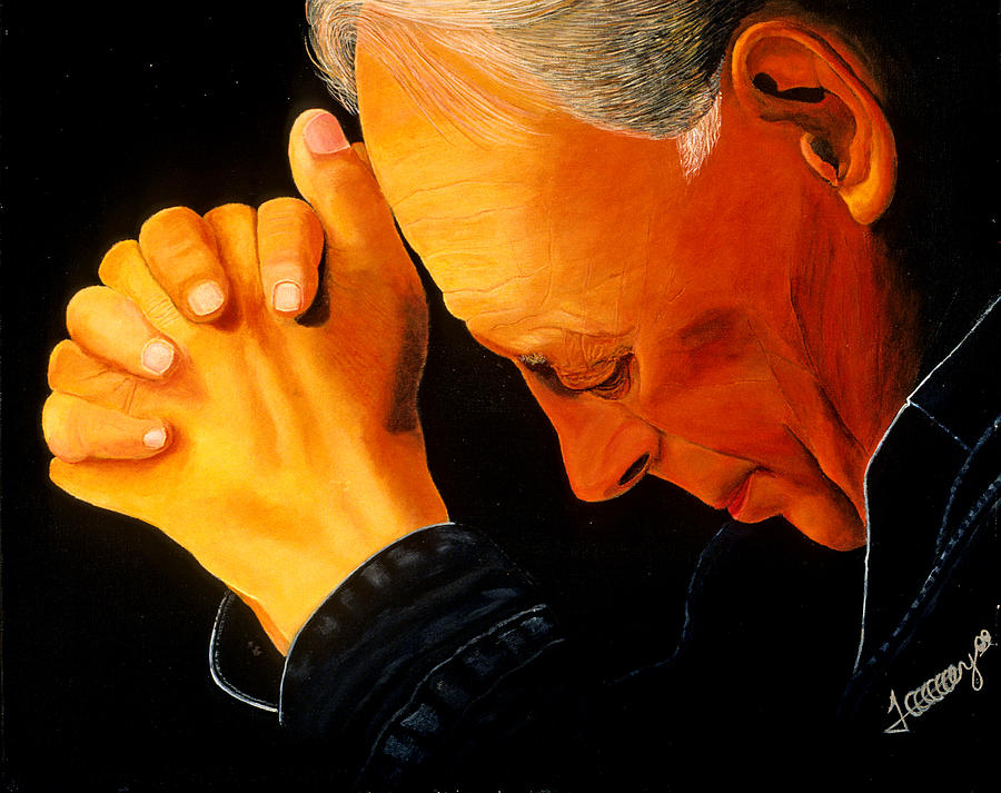 Preacher Painting - Oh Lord Hear Our Prayer by JoeRay Kelley