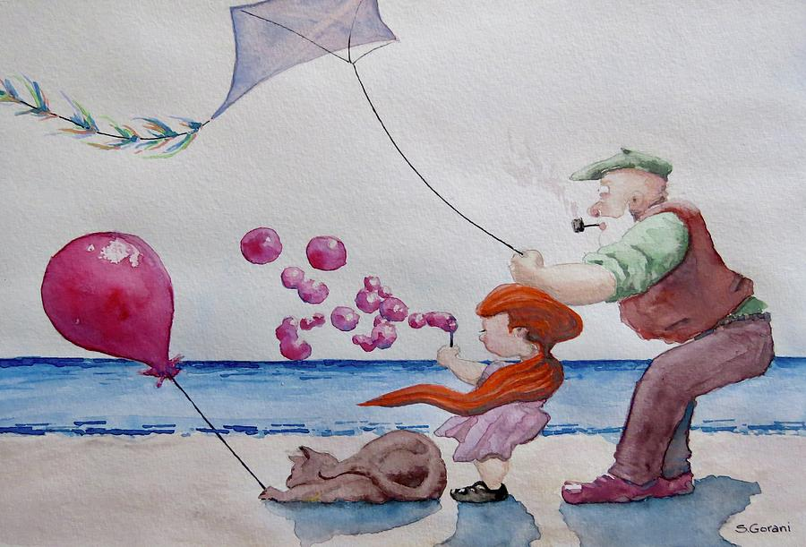 Painting Painting - Oh My Bubbles by Geni Gorani