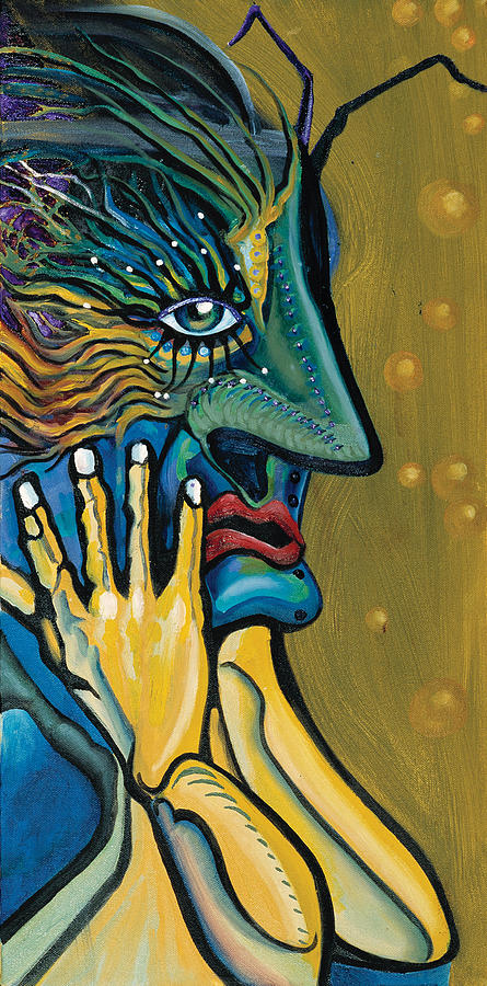 Abstract Face Painting - Oh My by Matthew Milone
