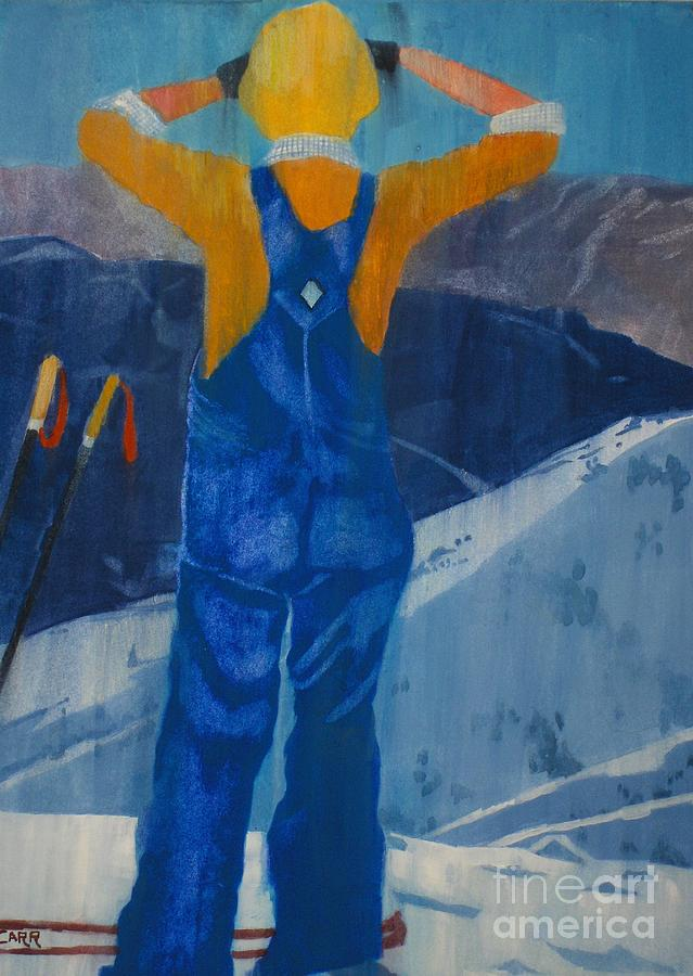 Ski Painting - Oh Say Can You See by Elizabeth Carr