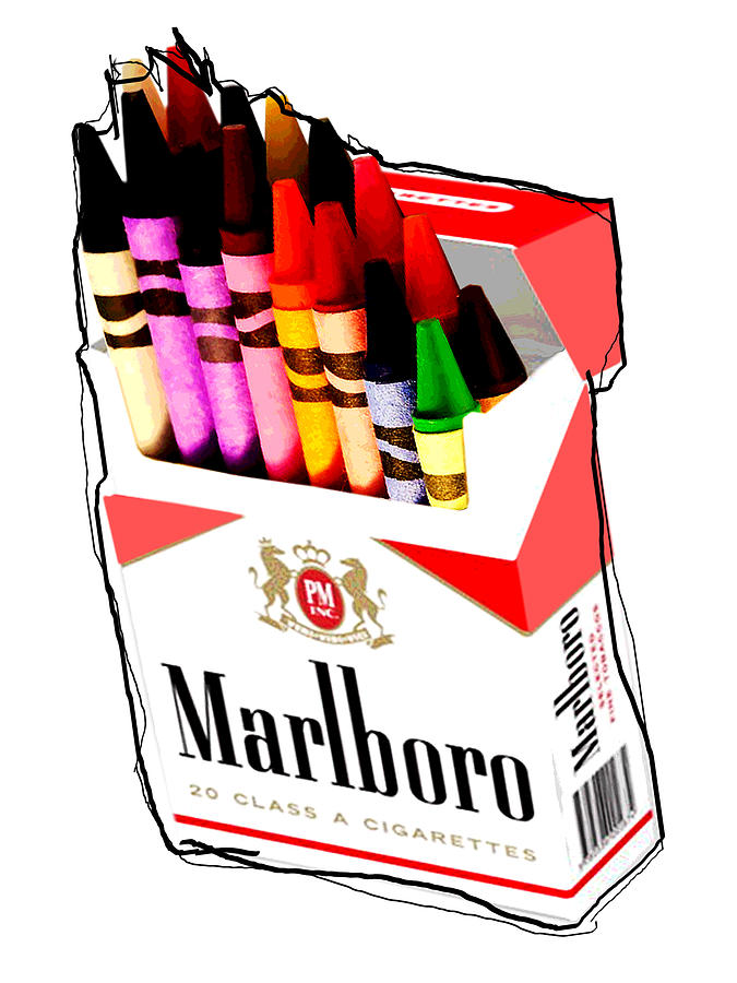 Color Digital Art - Oh These Arnt Cigarettes Just Crayons by Cohen Bailey